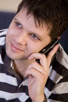 Free Young Man With Cellphone Stock Photos - 8147053