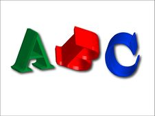 3D Letters ABC (easy As Abc) Stock Images