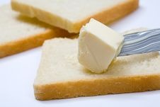 Free Bread, Butter And Knife Royalty Free Stock Photo - 8147635