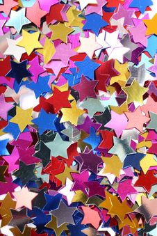 Free Stars In The Form Of Confetti Royalty Free Stock Photo - 8147685
