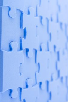 Free Blue Puzzle Royalty Free Stock Photos - 8147818