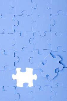 Free Blue Puzzle Stock Photography - 8147852
