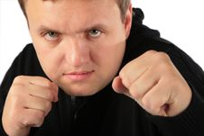 Man Prepared For Protection Royalty Free Stock Photos