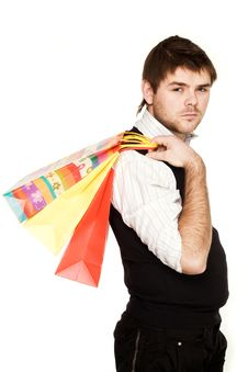 Free Man With Bags Royalty Free Stock Photos - 8148278