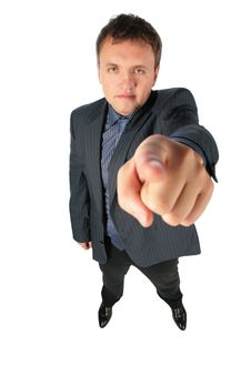Free Man Points A Finger At You Stock Photo - 8148510