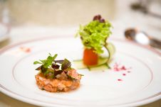Appetizer Served With Vegetables Royalty Free Stock Photo