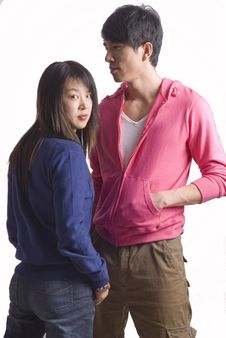 Free Young Asia Couple Royalty Free Stock Photos - 8148668