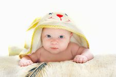 Free Baby After Bath Portrait Stock Photo - 8148720