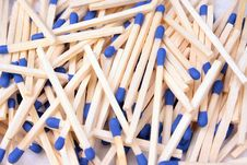 Free Blue Matches Royalty Free Stock Photos - 8148788