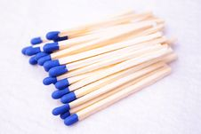 Free Blue Matches Royalty Free Stock Photos - 8148818