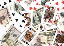 Free Cards, Money... Royalty Free Stock Image - 8149266