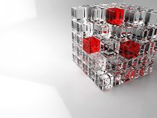 Free 3D Glass Cube Royalty Free Stock Photos - 8149508