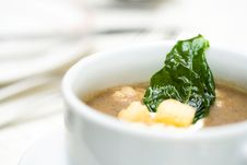 Free Cream Of Soup Is Served Stock Photos - 8149723