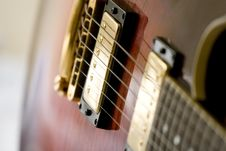 Free Close Up Of Electric Guitar Royalty Free Stock Photography - 8149847