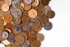 Free Coins Background Royalty Free Stock Photo - 8149995