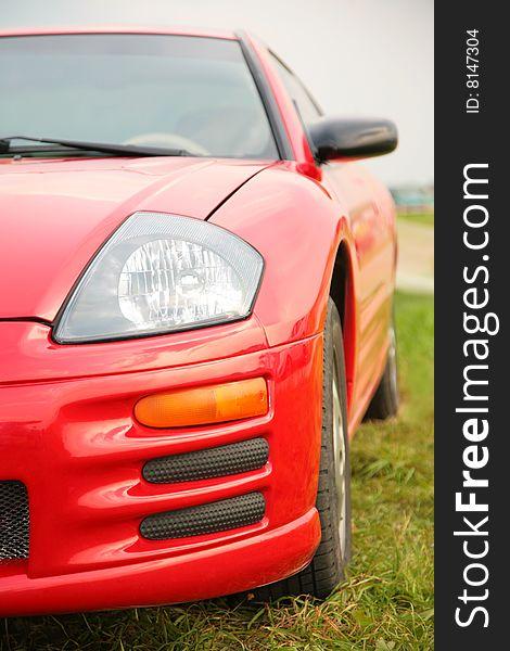 Red sport car.