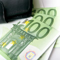 Free Euro And A Leather Purse Royalty Free Stock Photos - 8153388