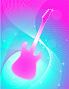 Free Guitar Swirl Background Royalty Free Stock Photo - 8156345