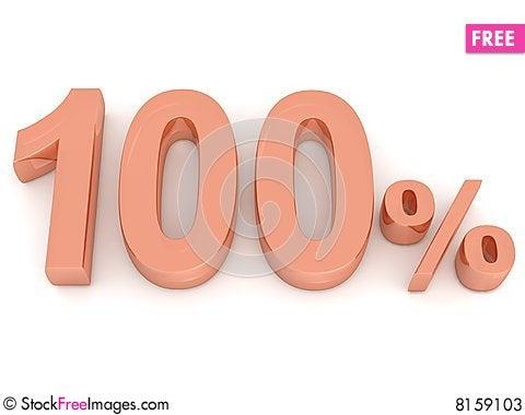 Free Hundred Percent Stock Photos - 8159103