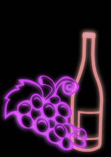 Free Wine Bottle And Grapes Royalty Free Stock Images - 8150069
