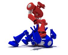 Free Red Robot Stock Photos - 8150333