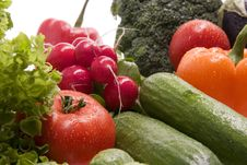 Free Fresh, Wet Vegetables Stock Image - 8150341