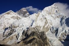 Free Everest & Nupse From Kalapattar, 5545m Royalty Free Stock Photography - 8150647