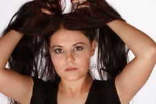 Free Lifting Hair Up Stock Photos - 8151283