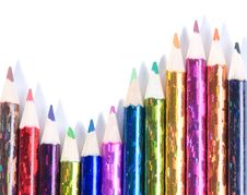 Free Assortment Of Coloured Pencils Stock Photo - 8152330