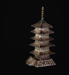 Pagoda (Black) Royalty Free Stock Images
