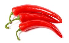 Big Red Hot Chili Peppers Royalty Free Stock Photography