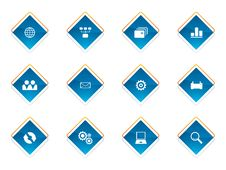 Free Web Icon Set Royalty Free Stock Photos - 8153398
