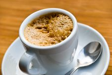 Free A Cup Of Fresh Brewed And Hot Espresso Stock Photography - 8153592