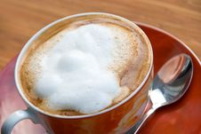 Free A Cup Of Fresh Brewed And Hot Cappuccino Royalty Free Stock Images - 8153599