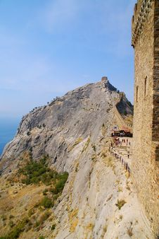 Sudak Fortress In Crimea, Ukraine Royalty Free Stock Images