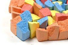 Free Set Of Colored Chalk Royalty Free Stock Photography - 8154117