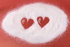 Free Hearts In Sugar Royalty Free Stock Photos - 8154478