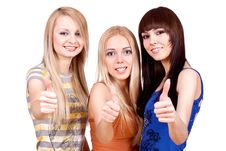 Free Three Girlfriends Together Stock Image - 8154521