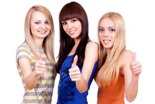 Free Three Girlfriends Together Royalty Free Stock Photos - 8154528