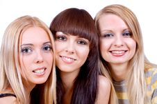 Free Three Girlfriends Together Stock Photo - 8154560