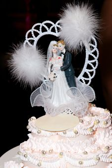 Top Of Cake At Wedding Royalty Free Stock Photos