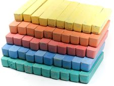 Free Five Colors Children Chalk Royalty Free Stock Photo - 8154915