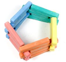 Free Pentagon From Children Colored Chalk Stock Images - 8154974