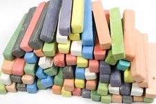 Set Of Colored Chalk Royalty Free Stock Photography