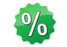Free Percent Button Royalty Free Stock Photo - 8155475
