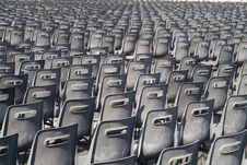 Many Grey Chairs In Rows