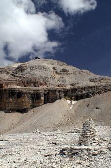 White Dolomite Peak Royalty Free Stock Photo