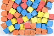 Free Set Of Colored Chalk Stock Photos - 8155753