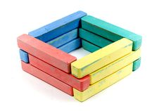 Free Square From Childrens Colored Chalk Stock Photo - 8155840