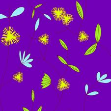 Free Flowers And Stems On Purple Stock Photography - 8156192
